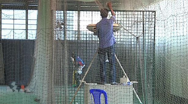 মিরপুর ইনডোর প্রস্তুত করা হচ্ছে ক্রিকেটারদের অনুশীলনের জন্য